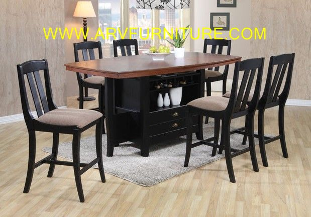 arv furniture mississauga ontario canada 7pc counter height dining set
